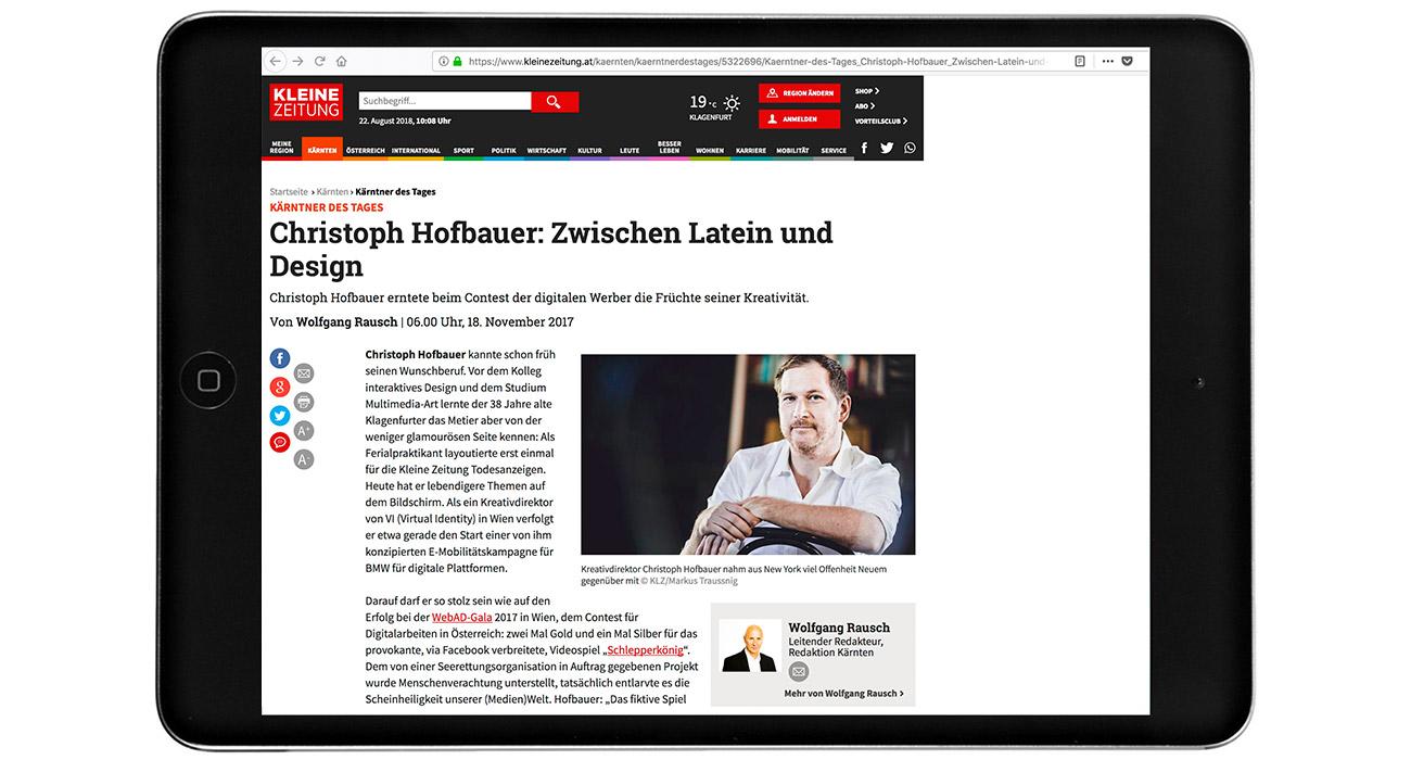 Kleine Zeitung Story