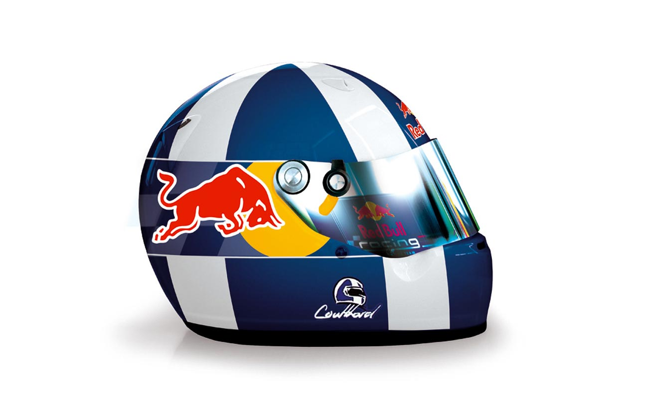 helmet design Red Bull Racing